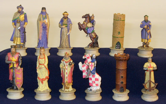 Arabian vs christian Crusade Painted Resin Chessmen