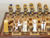 Angels Painted Resin Chess Pieces with Wooden Storage Chest