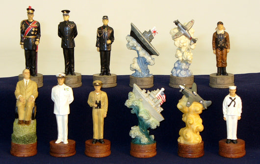 Pearl Harbor Painted Resin Chessmen