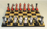 Crusades Knights of Malta vs Knights Templar Chess Set