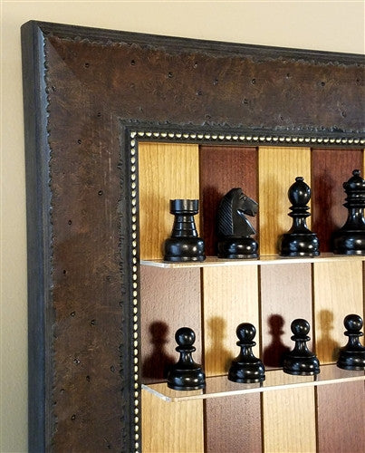 Wall Mounted Chess Set with Red Cherry Board And Philipin Chess Pieces