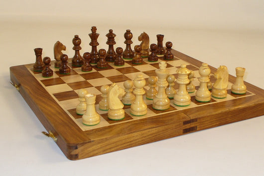 "14"" Folding Wood Chess Set"
