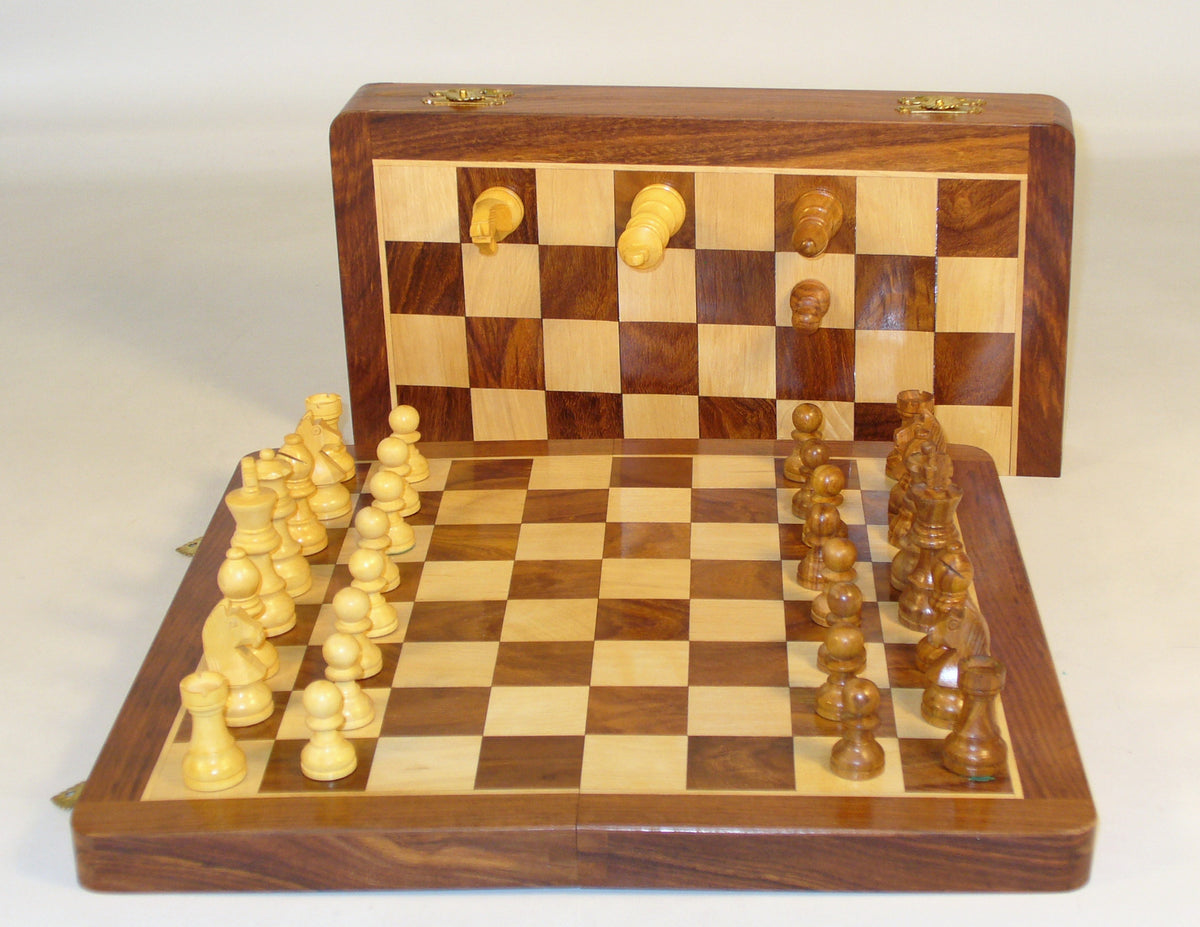 "14"" Folding wood Magnetic Chess"