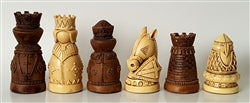 Wall Mounted Chess Set with Black Walnut Chess Board And Traditional Brown Frame