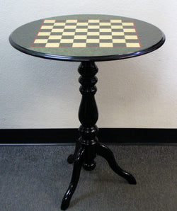 Round Briarwood Green Lacquered Chess Table