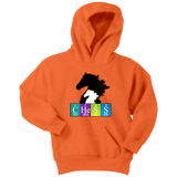 Chess Atomic Table Black Knight- Youth Unisex Hoodie