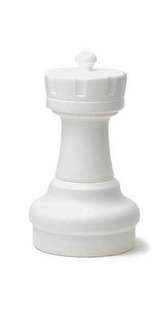 "Indoor / Outdoor Garden Plastic Chess Individual Pieces (25"" King)"