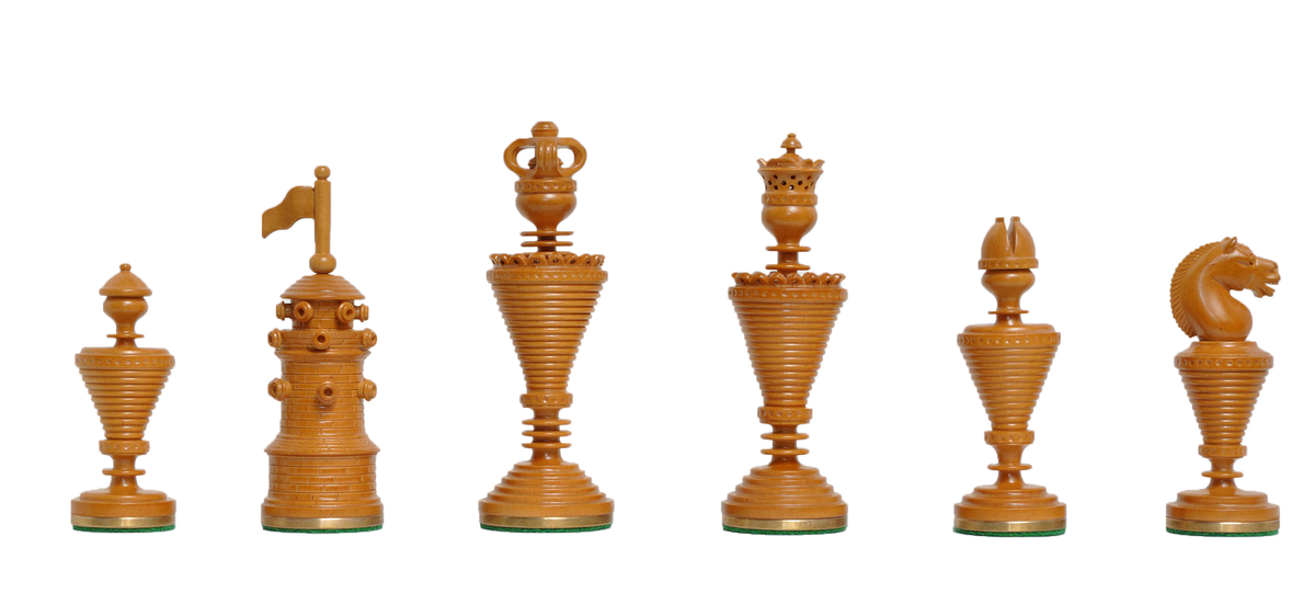 Hand Carved Luxury Wood Chess Pieces - The Anglo-Dutch Reproduction