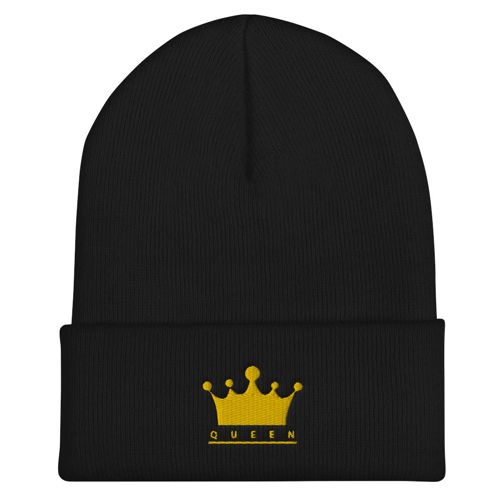 Queen embroidered Cuffed Beanie