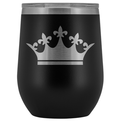 Queen Tiara Laser etched Wine Tumbler
