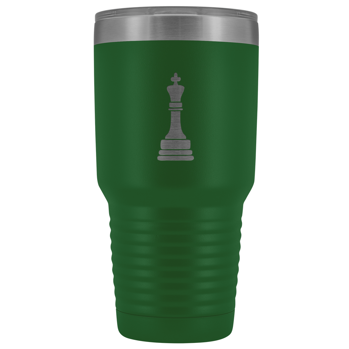 Laser etched King 30 Ounce stainless steel Vacuum insulated hot and cold beverage Tumbler