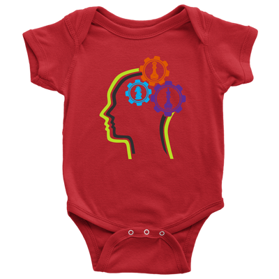 Chess in the mind - Chess Gears - Baby Onesie