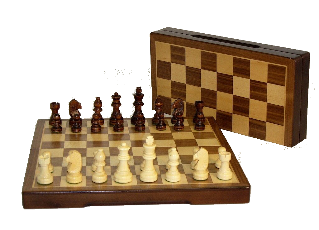 "12"" Folding wood Chess Set"