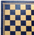 "13"" Blue and Gold Pressed faux leather On Wood Chess Board"