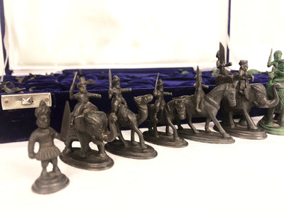 Brass Maharaja Army Chess Pieces