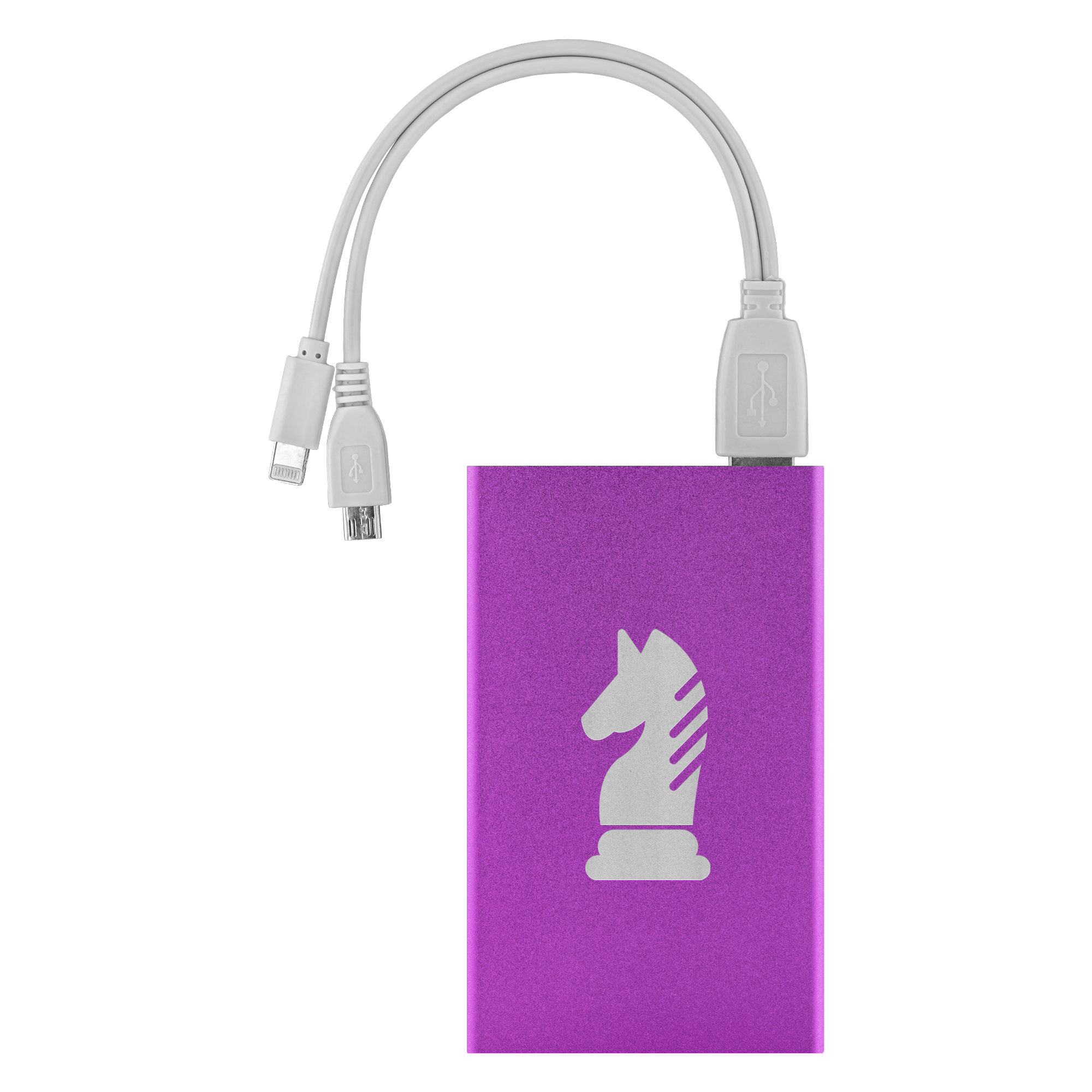 Chess Knight laser etched Lithium-Ion power bank