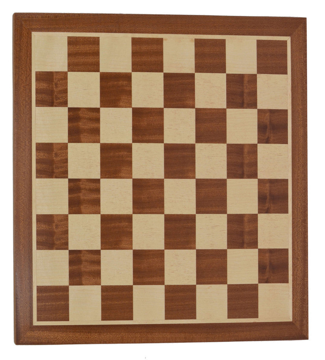 "Mahogany Wood Chess Board with 2.125"" Squares"