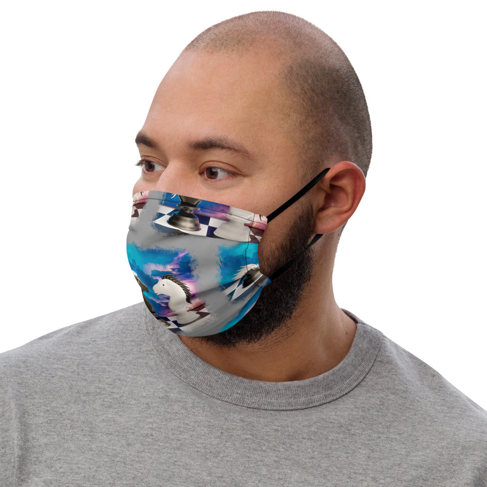 Chess Knights Face mask