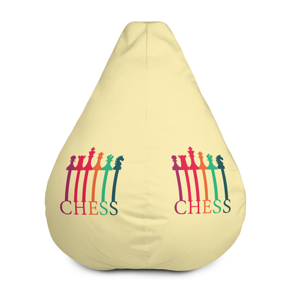 Chess the pieces and the letters Bean Bag Chair w/ filling