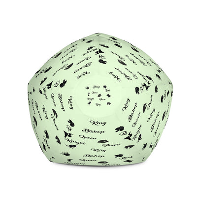 Chess pieces words and pictures Bean Bag Chair w/ filling