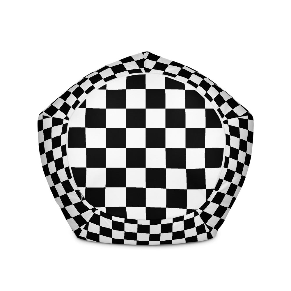 Chess board pattern Bean Bag Chair w/ filling