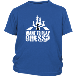 Want to play chess? - Youth T-Shirt