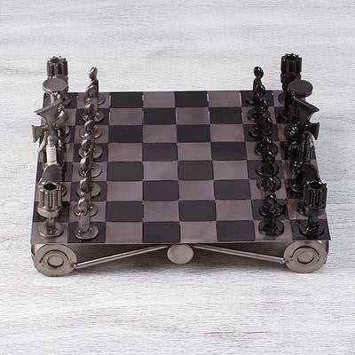 Unique Recycled Auto Part Chess Set