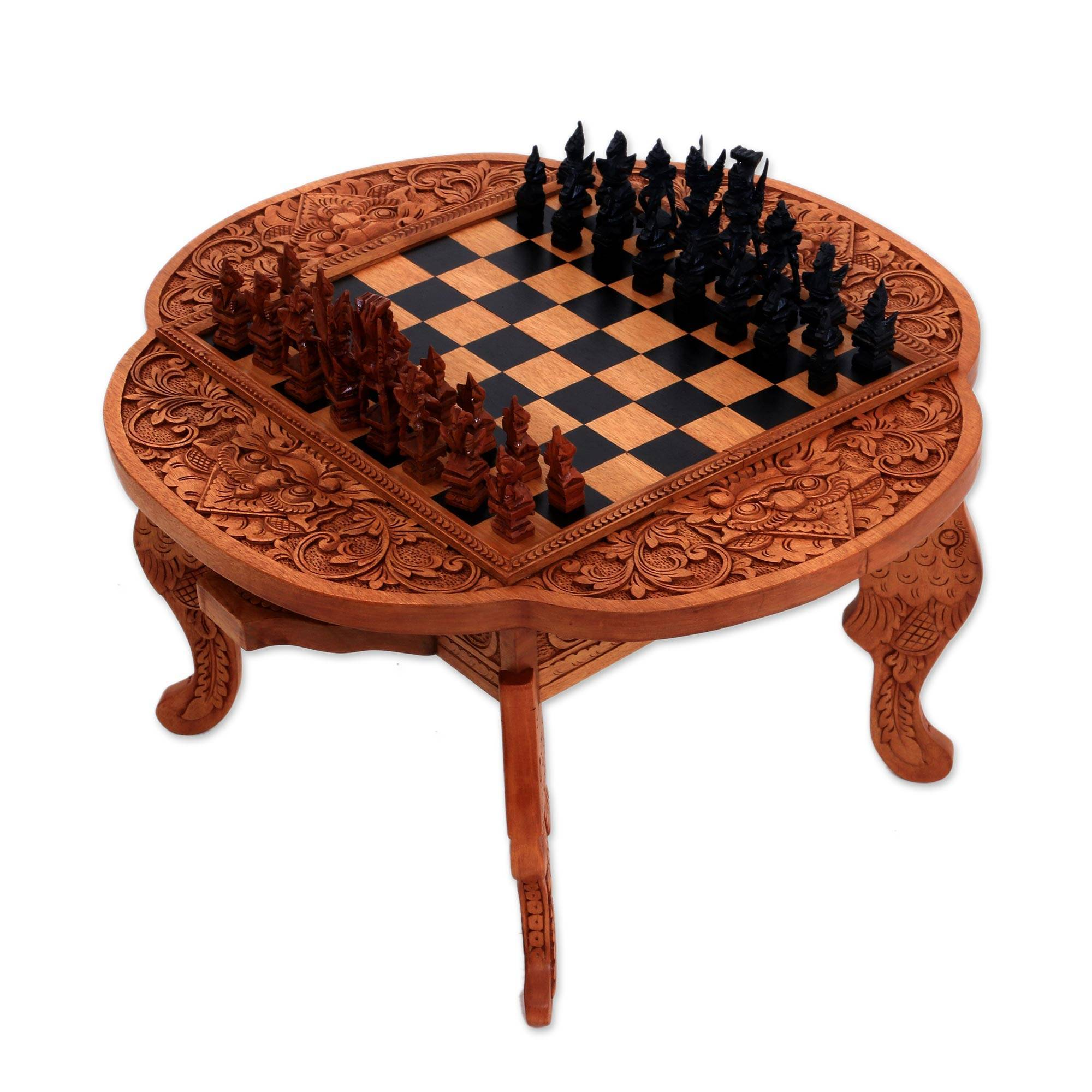 Paradise wood chess set kepalan wood -1