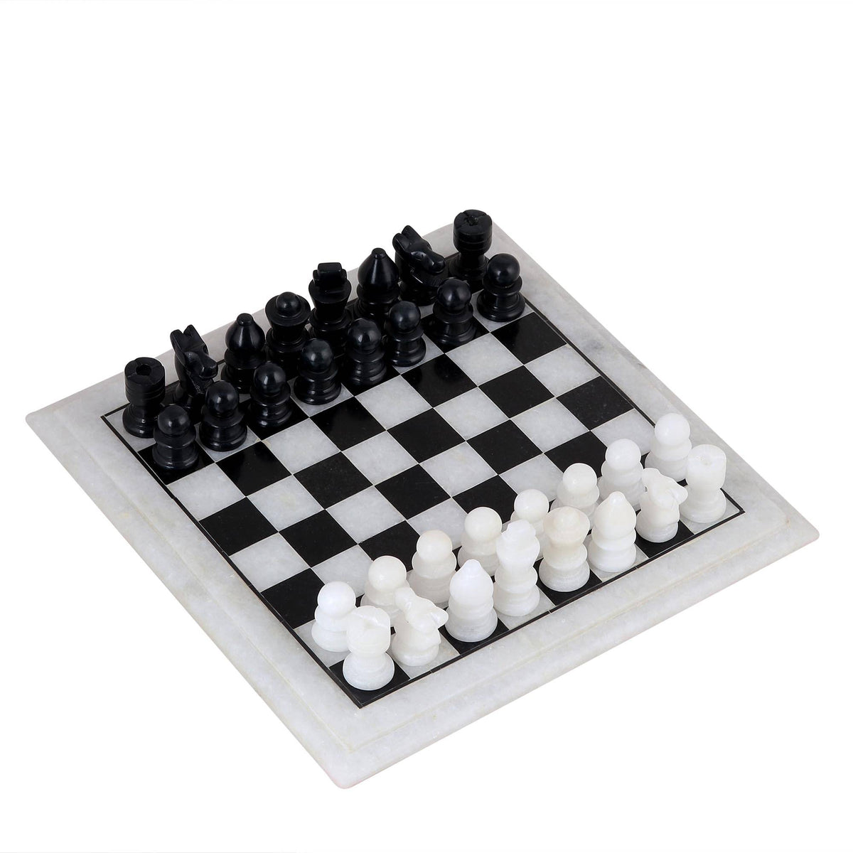 Handcrafted Black and White Marble Chess Set