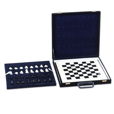 Handmade Bone and Horn Chess Set