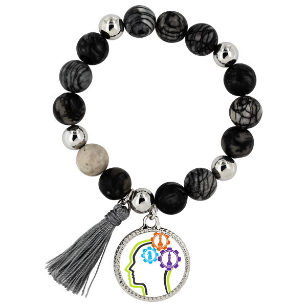 Chess thinking gears - Lyric bracelet