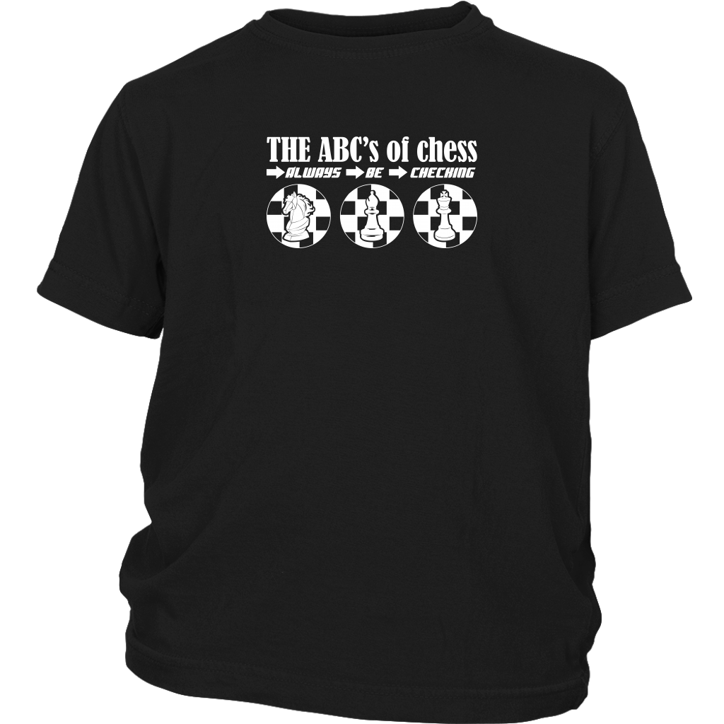 The ABC's of Chess - Always Be Checking - Youth T-Shirt