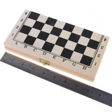 Foldable Wooden Chessboard Travel Chess Set with Lock and Hinges