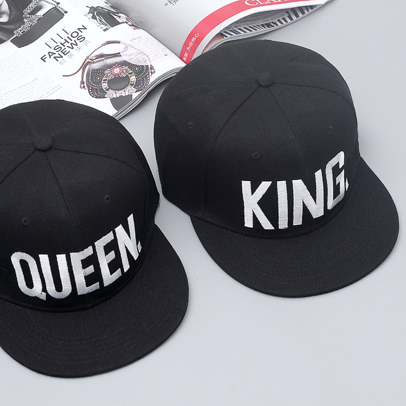 KING and QUEEN Embroidery Snapback Hat Acrylic Baseball Sports Cap