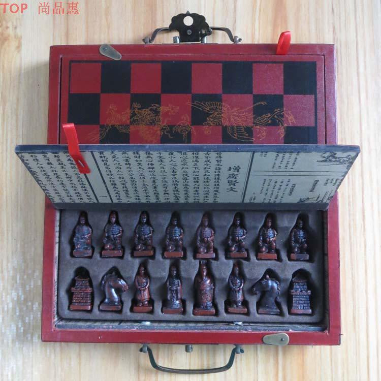 Terra-Cotta Warriors Chess Set With Decorative Box