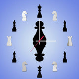 3D Home Decal New Acrylic Mirror Wall Clock New The Chess Wall Decor Removable