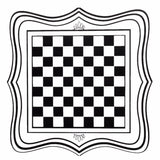 60x60cm PVC Vinyl Black International Chess Board Tea Table Glass Desk Sticker