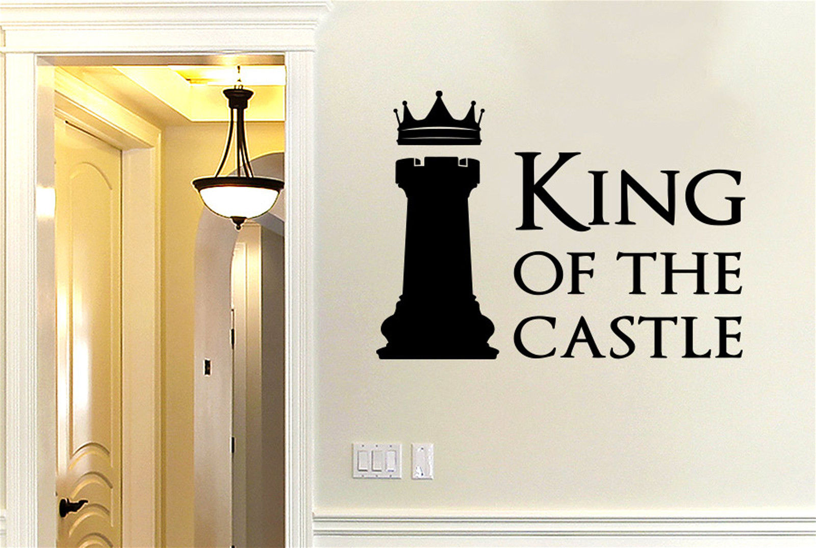 King Of The Castle Chess Piece Vinyl Wall Decal Kids room Sticker Wall Art Home Decor