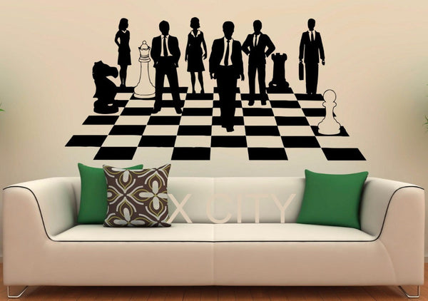 Chess Game Sticker Strategy Board Show Decals Vinyl Office Home Interior Design