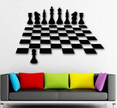 2016 new Wall Stickers Vinyl Decal Chess Intelligent Game Great Home Decor