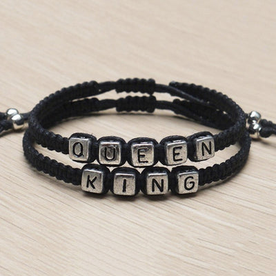 Handmade Couples Bracelets set - King and Queen Gift Bracelets