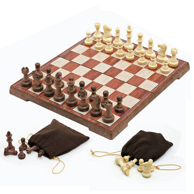 Wooden Folded Board International magnetic Chess Set