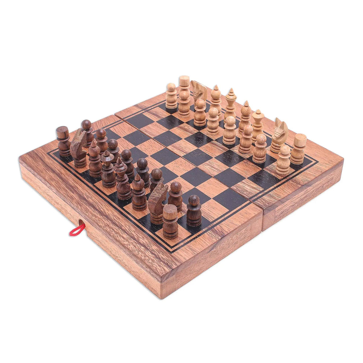 Raintree Wood Chess and Backgammon Handmade Game