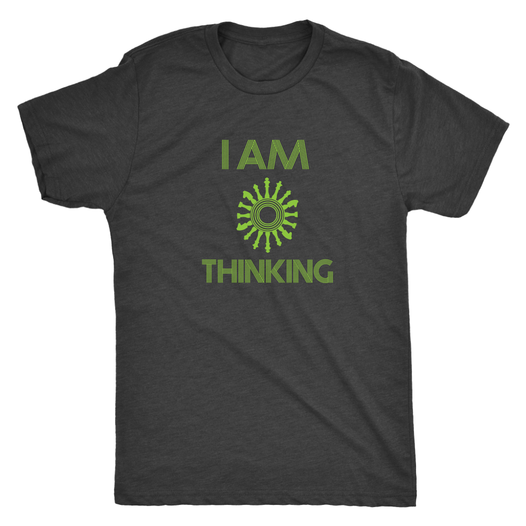 I am thinking - chess wait slow loading clock - Triblend T-Shirt