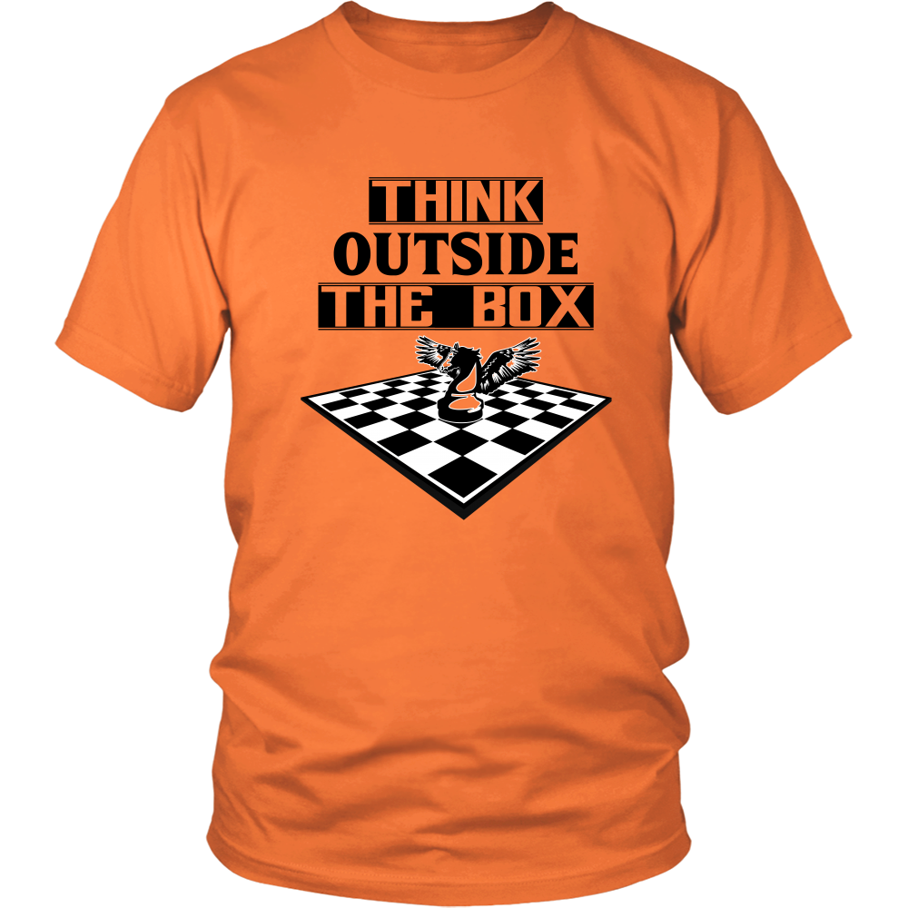 Think outside the box - men's and women's chess T-Shirt