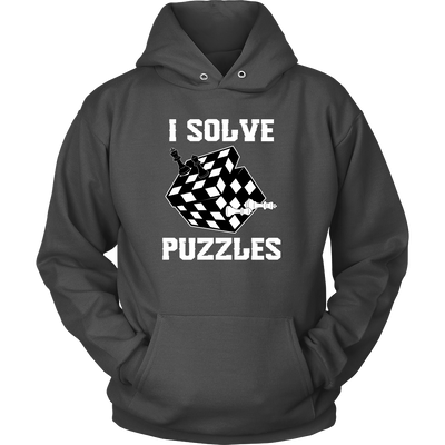 I Solve Puzzles - Rubick's Cube and Chess - Unisex Hoodie