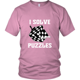I Solve Puzzles - Rubick's Cube and Chess - Unisex T-Shirt