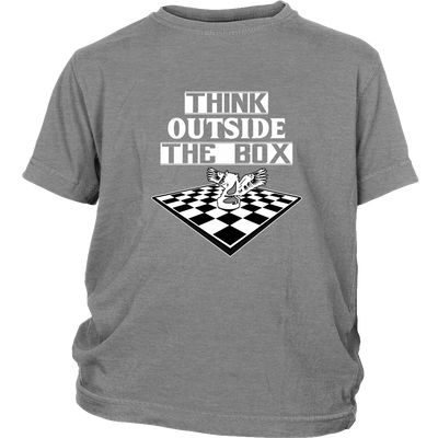 Think outside the box - Youth chess T-Shirt