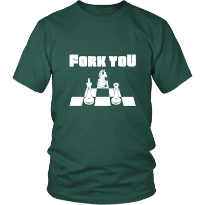 Fork you - Unisex Chess T-Shirt