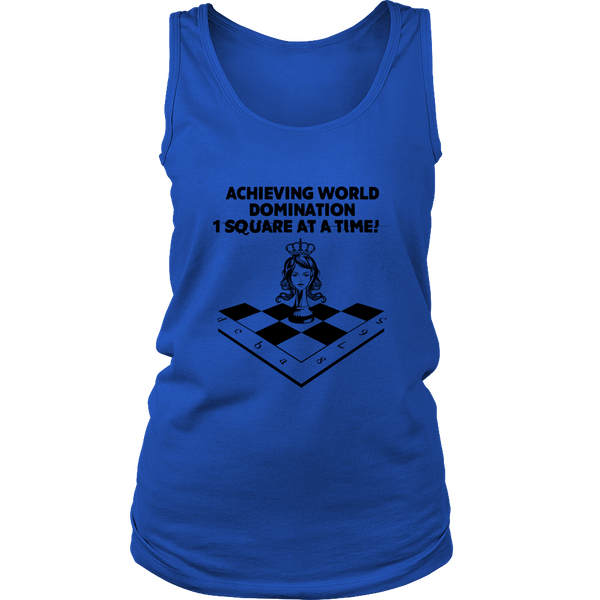 Achieving world domination one square at a time - Womens Tank top
